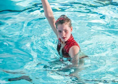 Henley Synchronised swimming club at Reading Novice competition 2015